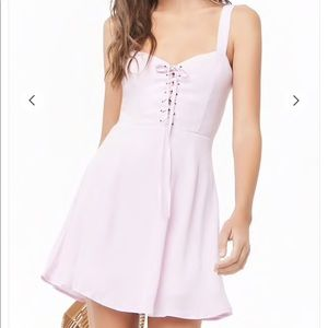 Forever 21 Lace Up Lilac Dress